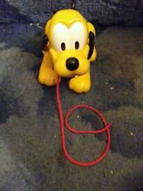 Pull along disney dog toy