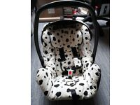 Britax Limited Edition 101 Dalmations Print Deluxe 0-9months Car Seat