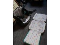 Tomy portable baby feeding chair and changing mat
