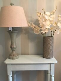 STUNNING SOLID WOOD CHUNKY FARMHOUSE DUCK EGG CONSOLE TABLE ****REDUCED**