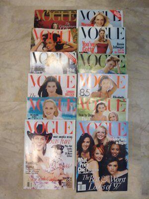 Vogue Magazines 1998 Entire Year