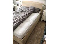 4ft 6 suede effect bed frame
