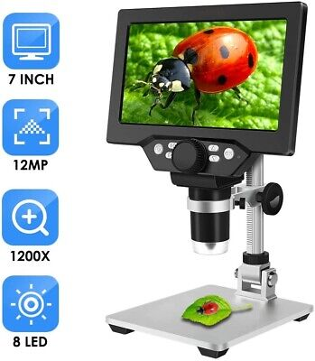 7 Inch Lcd Video Microscope For Phone Watch Repair Soldering Pcb Inspection
