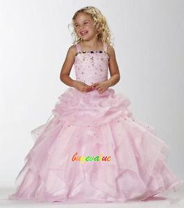 Rose robes de fille robe enfant robe filles de fleurs de for Fleurs fille robes mariage