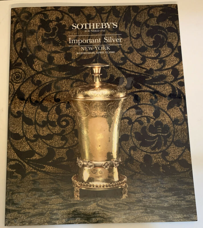 Sotheby's 5701 Important Silver Auction Catalog New York 1988