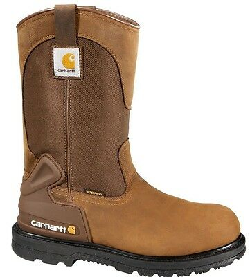 MENS CARHARTT SOFT TOE ELECTRICAL HAZARD WELLINGTON BOOT CMP 1100 BROWN