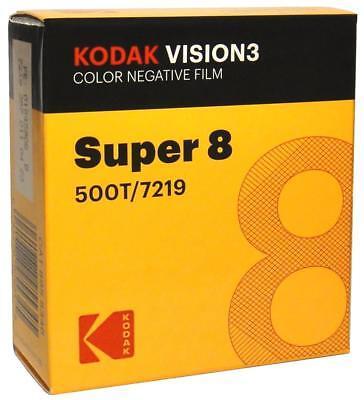 Kodak V3 Super 8mm Colour Negative Film 500T 7219 Official Reseller UK Based