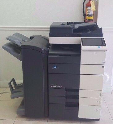 Konica Minolta Bizhub C454e Color Copier Printer Scanner Network Low Meter