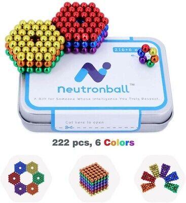 Multi Colored 222 Pcs 5mm Magnetic Fidget Balls Rainbow Colors Stress Relief