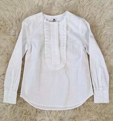 COLLECTION THOMAS MASON FOR JCREW RUFFLE-FRONT POPOVER 2 F5840 $198 NEW
