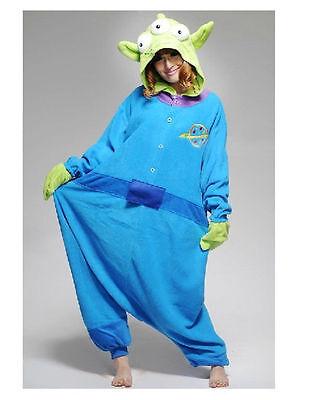 Unisex Toy Story Aliens Adult Kigurumi Pajamas Sleepwear Loose Cosplay Costume - Toy Story Alien Costumes
