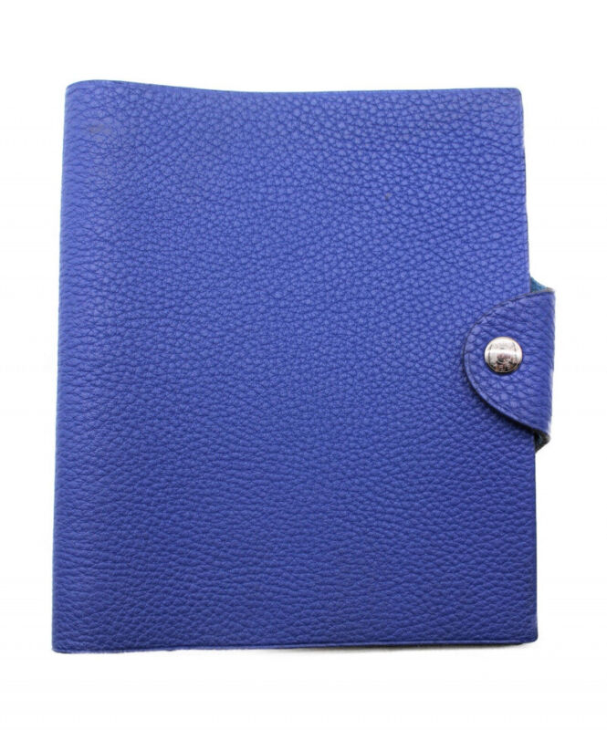 HERMES Ulysse PM Notebook Cover Blue