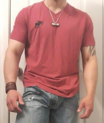 Men ABERCROMBIE  T-SHIRT SIZE SHORT SLEEVES V-NECK Size L