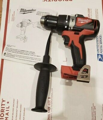 Milwaukee M18 2902-20 18-Volt 1/2-Inch Brushless Hammer Drill With Handle New