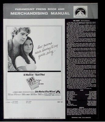 Love Story-1970 Ali McGraw, Ryan O'Neal Vintage Movie Pressbook ads poster imgs