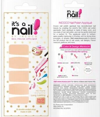 """INCOCO Nail Polish Strips, """"Pretty In Peach"""" 16 Double-Ended Strips"""