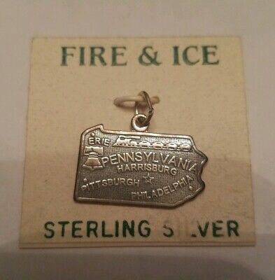 Sterling Silver Pennsylvania State Charm 925