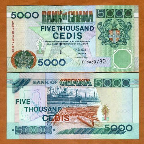 Ghana / Africa, 5000 Cedis, 2006 P-34j, UNC