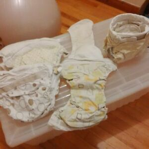 5 free bulky cotton 1-piece diapers
