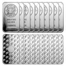 1 oz Sunshine Silver Bars - 20 oz Total .999 fine (New, Lot of 20)