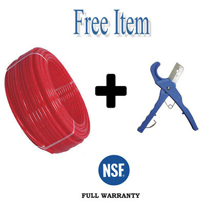 1 X 100ft Pex Pipe Tubing Pex-b For Potable Water Non-barrier Red 1 Free Item