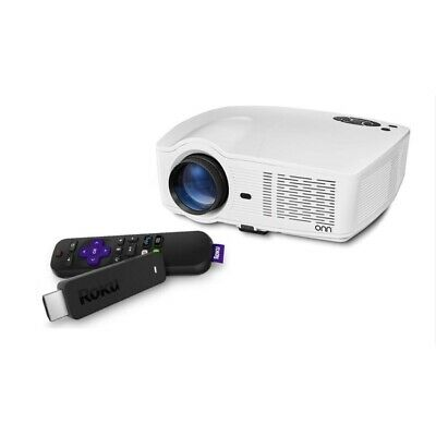 Onn Projector 720p / 1080p 3100 lumens Portable w/ Roku Streaming Stick