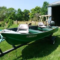 Aluminum Boat and Trailer for sale