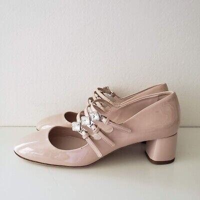 NEW Miu Miu  Mary Jane Pumps Multiple Strap Cipria Nude Pink Heel Shoes  $850