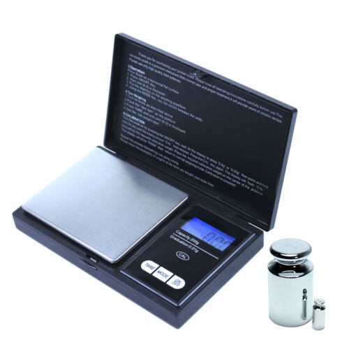 200g x 0.01g Digital Pocket Scale Precision Jewelry Scale / Calibration Weights