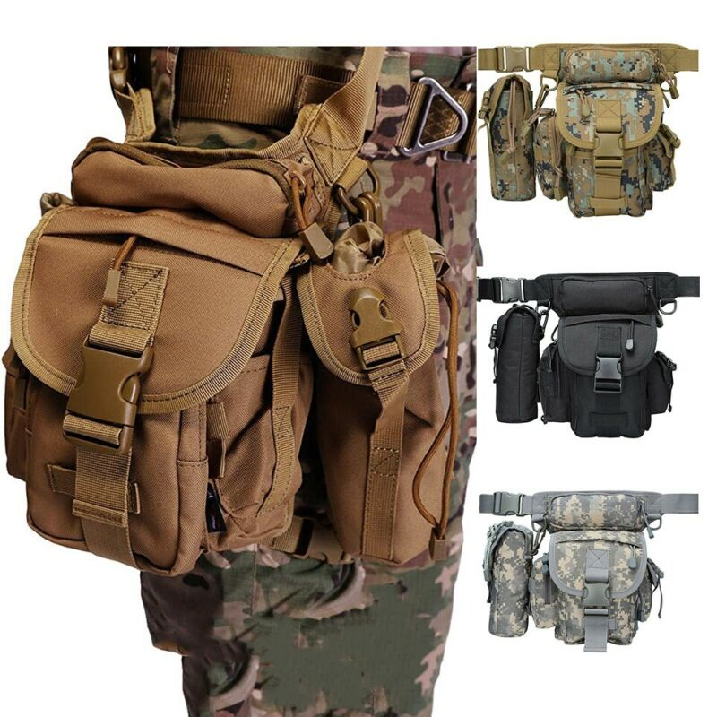 Military Tactical Drop Leg Bag Tool Thigh Pack Leg Rig Utility Pouch Outdoor