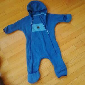 MEC fleece Ursus bunting suit 12 mos, blue