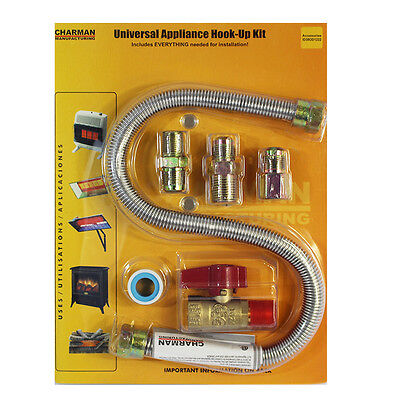 Charman One Stop Universal Gas Appliance Hook Up Kit Heater Stove Installation