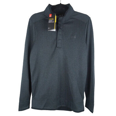 Under Armour Golf Cold Gear Storm Mens 1/4 Snap Button Pullover Size Small NWT