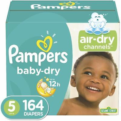 Diapers Size 5 (164 Count) - Pampers Baby Dry Disposable Baby Diapers