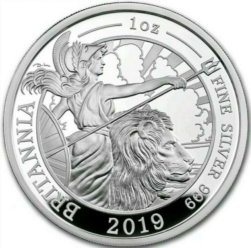 2019 1 Oz PROOF Silver £2 UK BRITANNIA Coin.