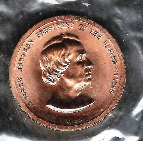 Andrew Johnson 17th President United States Uncirculated Medal