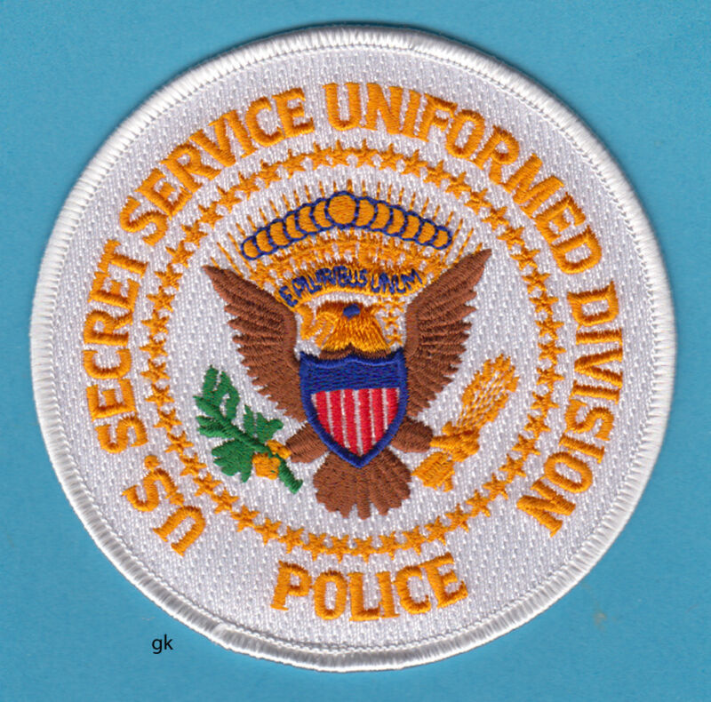 SECRET SERVICE UNIFORMED DIVISION POLICE SHOULDER  PATCH  (White)