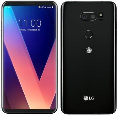 Desbloqueado TELEFONO LG V30 H931 64GB 3G/4G LTE GSM AT&T WIFI Aurora - Negro