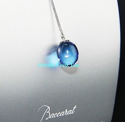 BACCARAT JEWELRY TENTATION ONE BEAD NECKLACE STERLING SILVER, PENDANT PARMA NEW