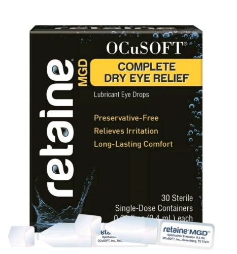 RETAINE by OCuSOFT MGD LUBRICANT EYEDROPS (30 SINGLE DOSE VIALS) (EXP. 05/2022)