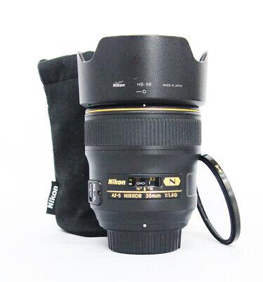 # Nikon AF FX NIKKOR 35mm f/1.4G Fixed Focal Length Lens S/N 213849