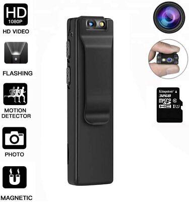 Hidden Camera-Spy Camera  Mini Body 8 Hours Battery Life- included 32GB Card...