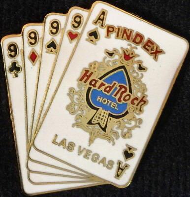 Hard Rock Hotel LAS VEGAS PINdex 1999 EARLY BIRD 9's & Ace PIN - HRC #4733 $100+