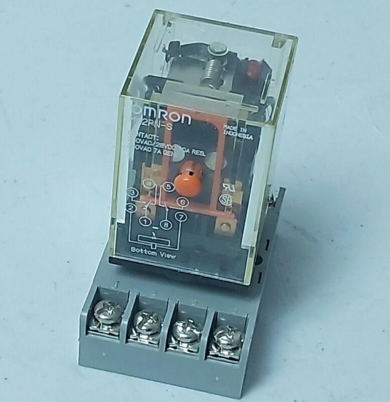 Omron MK2PN-S 120 VAC Coil Relay 250VAC  w/ Base