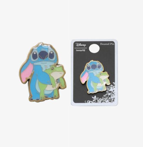 Loungefly Disney Lilo & Stitch Holding Frog Enamel Pin Trading Pin