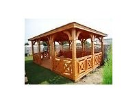Summerhouse/arbor inclusive transport + fitting many design available .prices from £1750