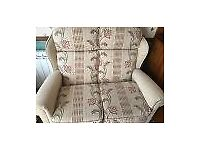 2 seater sofa and 2 matching arm chairs