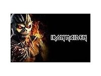 2 IRON MAIDEN TICKETS - BIRMINGHAM BARCLAYCARD ARENA - 21ST MAY 2017 - £175 EACH