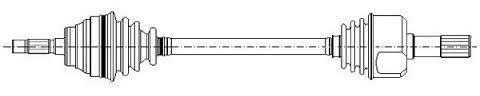 DRIVESHAFT/AXLE LEFT ALFA ROMEO 156 1.9 JTD, LANCIA LYBRA / L = 620MM