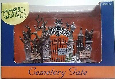lemax halloween pumpkin hollow cemetery gate nib - Cemetery Gates Halloween
